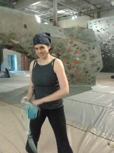Leslie chalking up to take on a new problem.