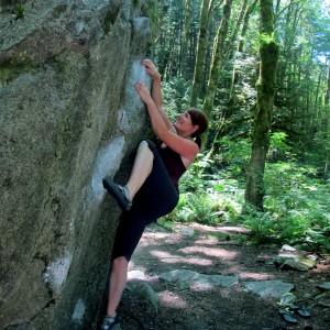 Outdoor bouldering